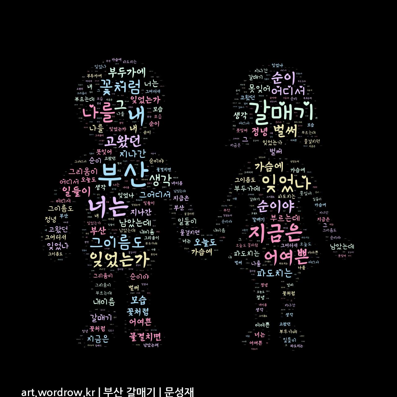 워드 아트: 부산 갈매기 [문성재]-44